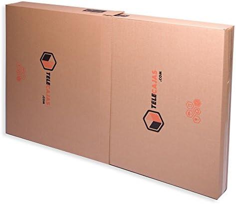 TeleCajas®   (5X) Cajas para Cuadros, Espejos, Televisor   Medidas: 81x13x130 cms   Doble Solapa y Canal Doble Resistente: Amazon.es: Hogar