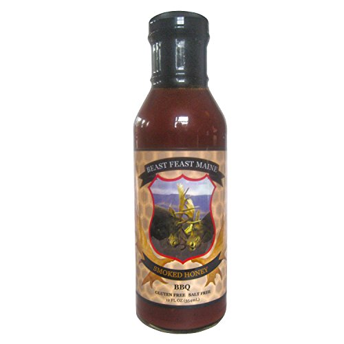 Smoked Honey BBQ Sauce | All Natural Handcrafted Salt Free Barbeque Grilling Sauce | Made with Pure Honey, Cane Sugar and other spices(12 oz) - Natural Bbq Sauce