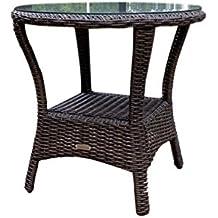 tortuga outdoor garden patio bayview side table pecan