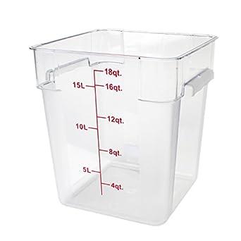 Excellante 849851007567 Polycarbonate Square Food Storage Containers 18 quart Clear  sc 1 st  Amazon.com & Amazon.com: Excellante 849851007567 Polycarbonate Square Food ...