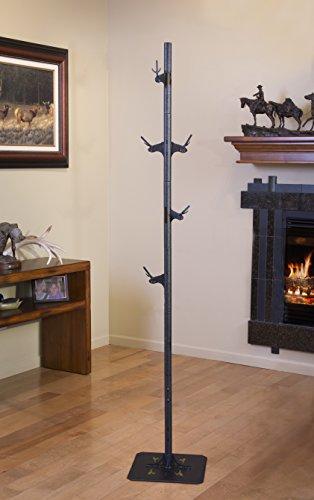 Trophy Tree European Trophy Mount by Skull Hooker – Hang up to 5 Deer Antlers and other Skulls for Display – Graphite Black by Skull Hooker (Image #4)