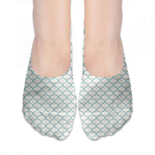 Ogee Liner - personalized fashion socks Ikat,Boho Ogee Motif Geometric Mesh,socks women low cut no show