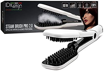 ID Italian Design | Cepillo Alisador Steam Brush Pro 2.0 de Color Blanco - 80W: Amazon.es: Belleza