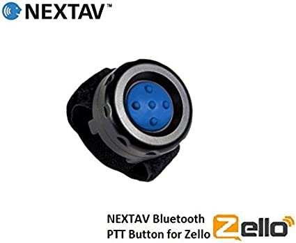 NEXTAV Wireless ZelloWork Zello Button for iPhone iOS Android with Strap