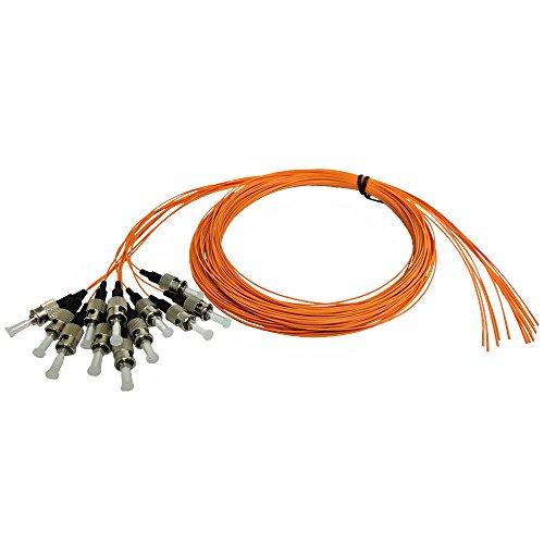 3m ST/PC multimode simplex 62.5 micron OM1 900um pigtail (12-pack) - orange