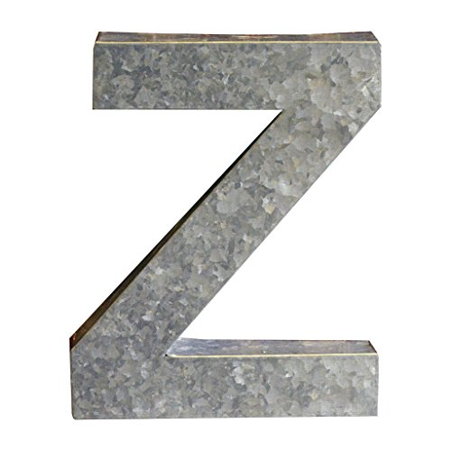 Modelli Creations Alphabet Letter Z Wall Decor, Zinc by Modelli Creations