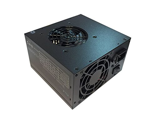 Apevia ATX-AD500W Astro 500W ATX Power Supply with Dual Auto-Thermally Controlled 80mm Fans, 115/230V Switch, All Protections (Thermally Controlled Fan)