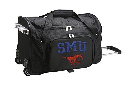 NCAA SMU Mustangs Wheeled Duffle Bag, 22 x 12 x 5.5