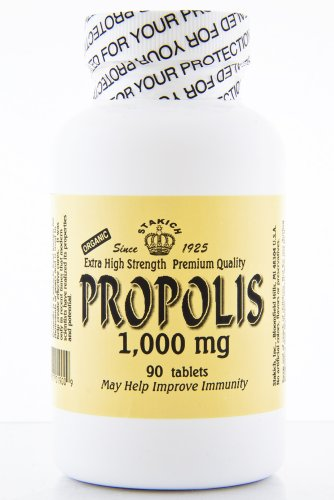 Stakich PROPOLIS Tablets (90 TABS, 1,000 MG) - Premium Quality, High Potency -