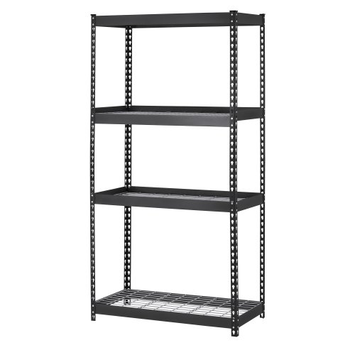 - Muscle Rack TRK-361860W4 Depth Steel Shelving Unit, 4-Shelf, 36
