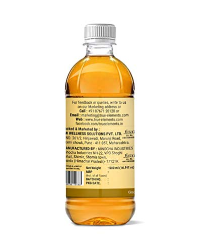 True Elements Apple Cider Vinegar with Mother of Vinegar (Unfiltered with Mother), 500ml