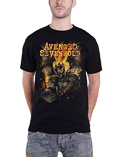 Avenged Sevenfold T Shirt Atone Hail to The King Official Mens Black