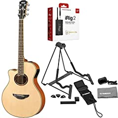 Great Bundle that Includes: Yamaha APX700II-12 Natural, Irig 2 Guitar Interface, Stand, Clip-on Tuner, Guitar Strap, Guitar Picks, String Winder and Polishing Cloth. The Yamaha APX700II-12 Thinline Cutaway 12-String Acoustic-Electric Guitar N...