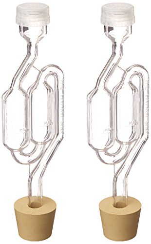 Twin-Bubble-Airlock-and-Carboy-Bung-Pack-of-2