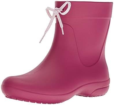 Crocs - Womens Freesail Shorty Rain Boot, Size: 4 B(M) US Womens, Color: Berry