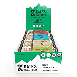 Kate's Real Food Granola Bars 6 Pack | Variety Pack 1 of Each Flavor | Clean Energy, Organic Ingredients, Gluten Free, Non GMO | All Natural Delicious Health Snack