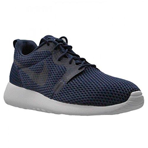 Uomo Nike Roshe Uno Br Hyp Scarpa Da Corsa Midnight Navy / Midnight Navy / Bianco