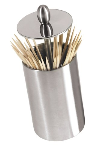 Oggi (7021) Retractable Toothpick Holder with Rubber Base