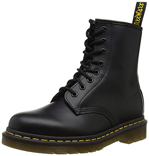 Classic 6 Eye Boot - Dr. Martens 1460 Originals 8 Eye Lace Up Boot, Black Smooth Leather, 7UK / 8 US Mens / 9 US Womens, 41 EU