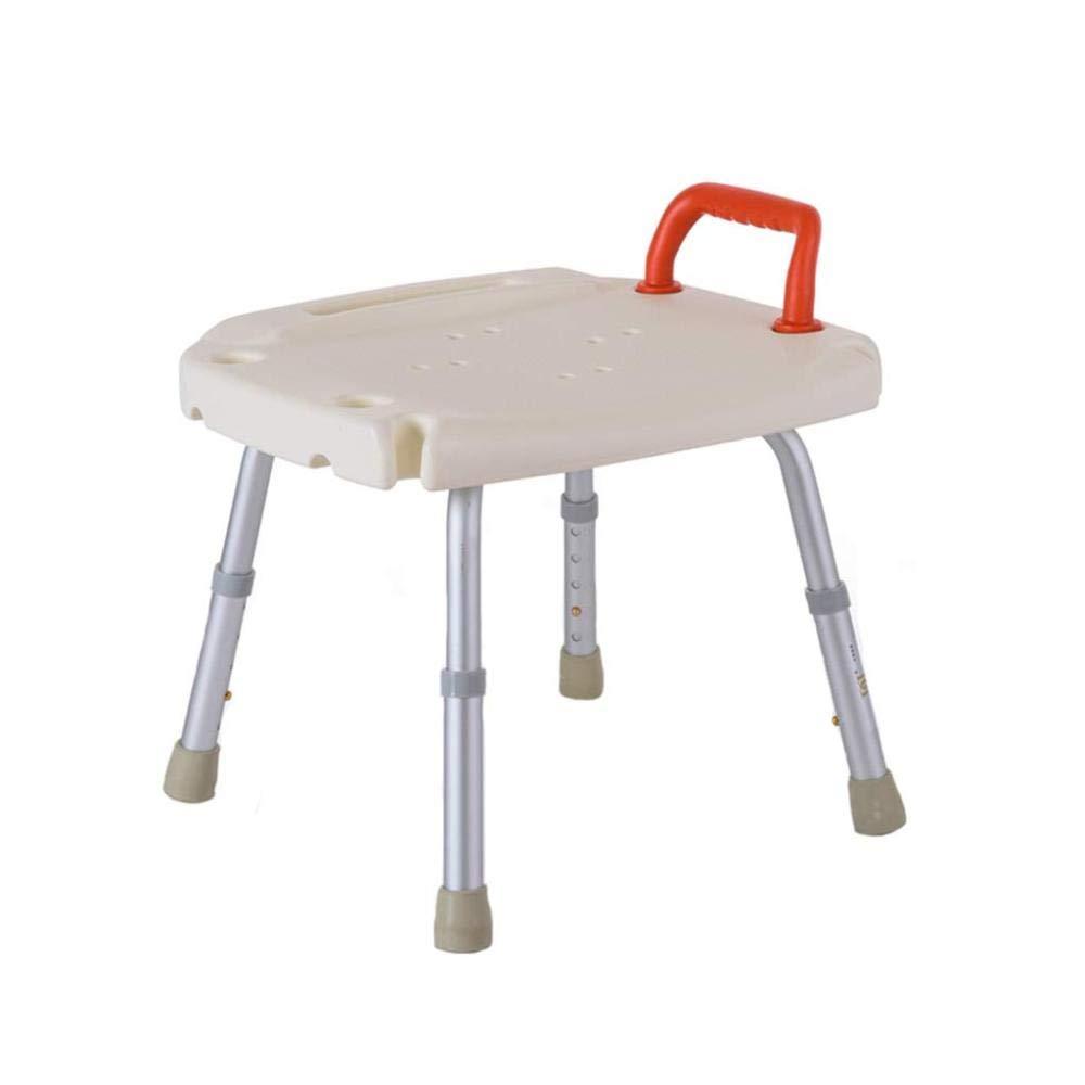 ACZZ Duschhocker, Höhenverstellbarer Tragbarer Badezimmersitz, Badehilfe Für Ältere Menschen,A,Schemel