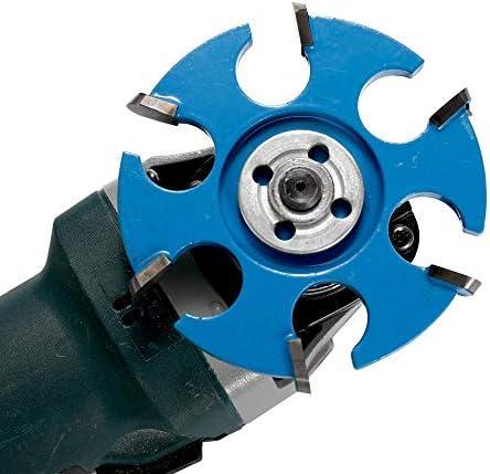 Gulakey 16ミリメートル絞り角グラインダーのためのツールソーブレード角度グラインダーアクセサリカービング六角ブレードフィレアンチリバースパワーウッド