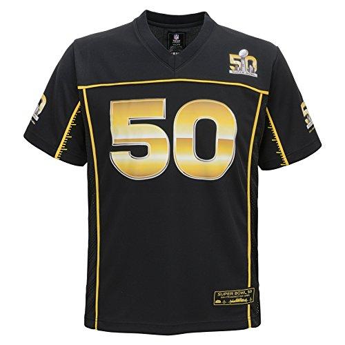 NFL Super Bowl 50 Boys 8-20 Jersey, Black, Large