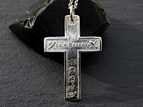 silver orthodox cross, antique cross pendant silver, silver cross pendant orthodox cross necklace silver, Russian cross pendant gift for him