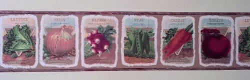 Seed Packet Gardening Wallpaper Border: Pattern UL105014… Pattern Packet