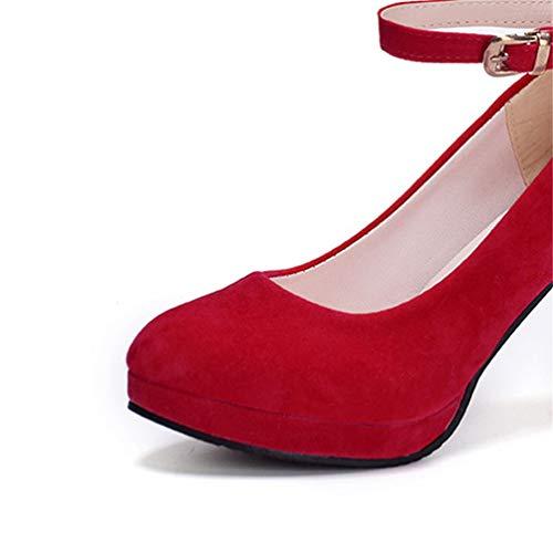 Hauts Confortables La Fine Bout Pompes Parti Chaussures Mariée Rouge De Pompes Pointu Talons Talon Sexy Chaussures Femmes Automne aqzzI