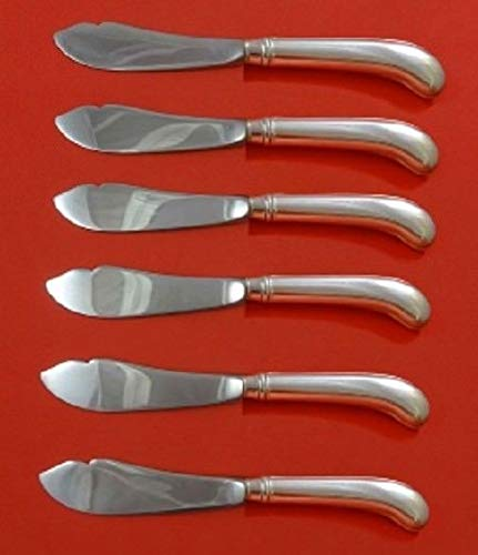 Rattail Antique By Reed Barton Dominick Haff Sterling Trout Knife Set Custom