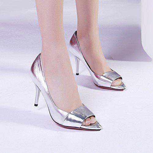 Wedding Bombas Básicos On Plataforma Zapatos Heels 5cm Pumps Party Women Slip 20 Toe 24 High Sandal Peep 5cm Stiletto YwCqPpW