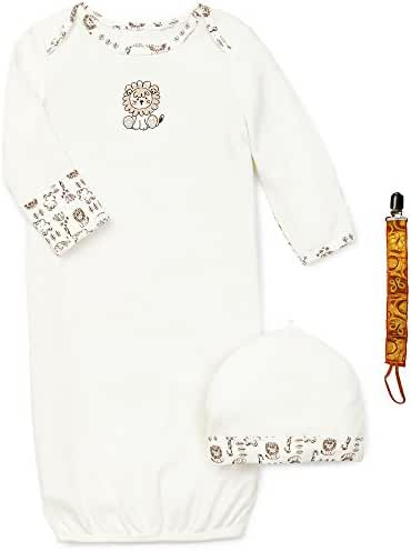 Little Me Preemie Newborn Boy Girl Unisex Layette Gown Baby Hat and Tether