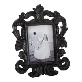 Amazon.com: Black Baroque Elegant Place Card Holder/Photo Frame ...