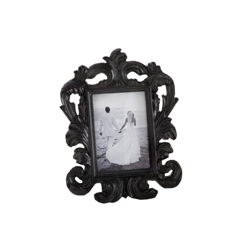 Black Baroque Elegant Place Card Holder/Photo ()