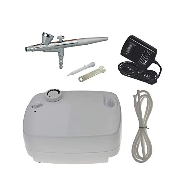 Multi-Purpose-Airbrush-Kit-with-Portable-Airflow-Adjustable-Mini-Air-Compressor-for-Makeup-Cake-Decorating-Nail-Model-Coloring-Hobbies-Barbers-Tattoos-and-Arts