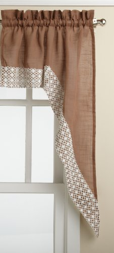 Treatments Swags Window (Lorraine Home Fashions Salem 60-inch x 38-inch Tailored Swag Pair, Chocolate)