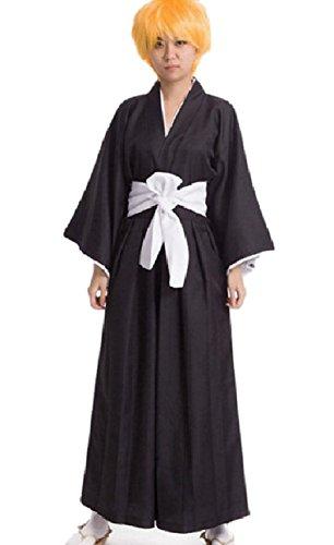 SSJ Kimono Robe Shinigami Bleach Cosplay Japanese Anime (XL)