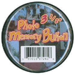 (The New Image Group Bulk Buy Photo Memory Button 3 1/2 inch Clear Plastic 7261 (6-Pack))