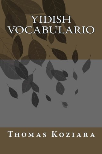 Yidish Vocabulario (Spanish Edition) [Thomas P. Koziara] (Tapa Blanda)