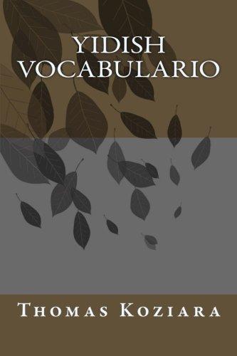 Yidish Vocabulario (Spanish Edition) [Thomas P. Koziara] (Tapa Blanda)