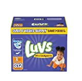 Health & Personal Care : Luvs With Ultra Leakguards Size 3 Diapers 204 Count