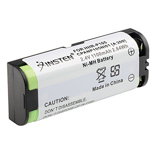 INSTEN Compatible Ni-MH Battery for Panasonic HHR-P105 Cordless Phone TYPE 31 - Ghz Cordless Amp 5.8