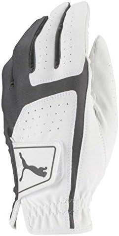 PUMA Golf mâle 2018pour Homme Flexlite Gant de Golf 2018Flex Lite Gant (pour Homme, à Gauche à la Main, Grande, Blanc,/Quiet Shade), Lumineux White-Quiet Abat-Jour, Grande