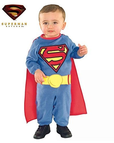 Superman Romper with Removable Cape Superman, Superman, 1-2 -