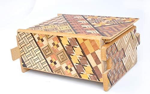 LOGICA GIOCHI Art. Cofre Yosegi 10 - La Caja Secreta - Rompecabezas de Madera - Caja Japonesa 10 Etapas: Amazon.es: Juguetes y juegos