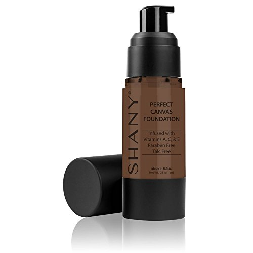 Chocolate Foundation - SHANY Perfect Canvas Liquid Foundation, Paraben/Talc/Oil Free, DC2, 30 Fluid Ounce