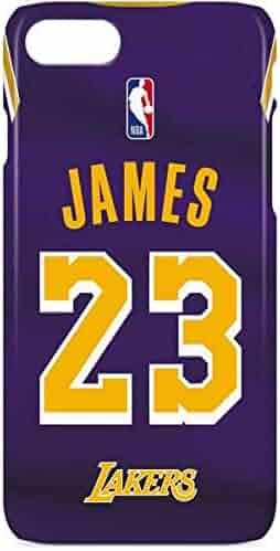 8ae10cd5b2c Skinit NBA Los Angeles Lakers iPhone 8 Lite Case - LeBron James Lakers  Purple Jersey Design