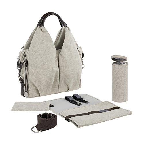 Lassig Green Label Neckline Diaper Bag Choco mélange (Neckline Leather)