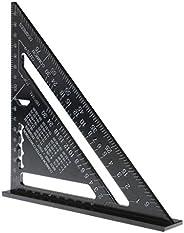 Homyl 18,5 cm régua triangular métrica quadrada carpintaria protrator de alumínio
