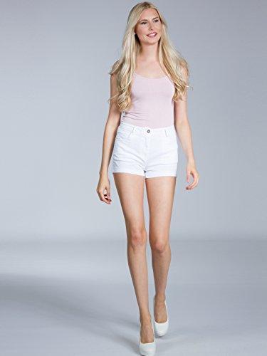 Corti Bianco CASPAR Shorts Cotone Hot HTP005 di Donna Pants qPPxWtB8p